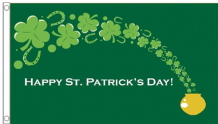 Happy St Patrick's Day Lucky Pot of Gold 5'x3' (150cm x 90cm) Flag